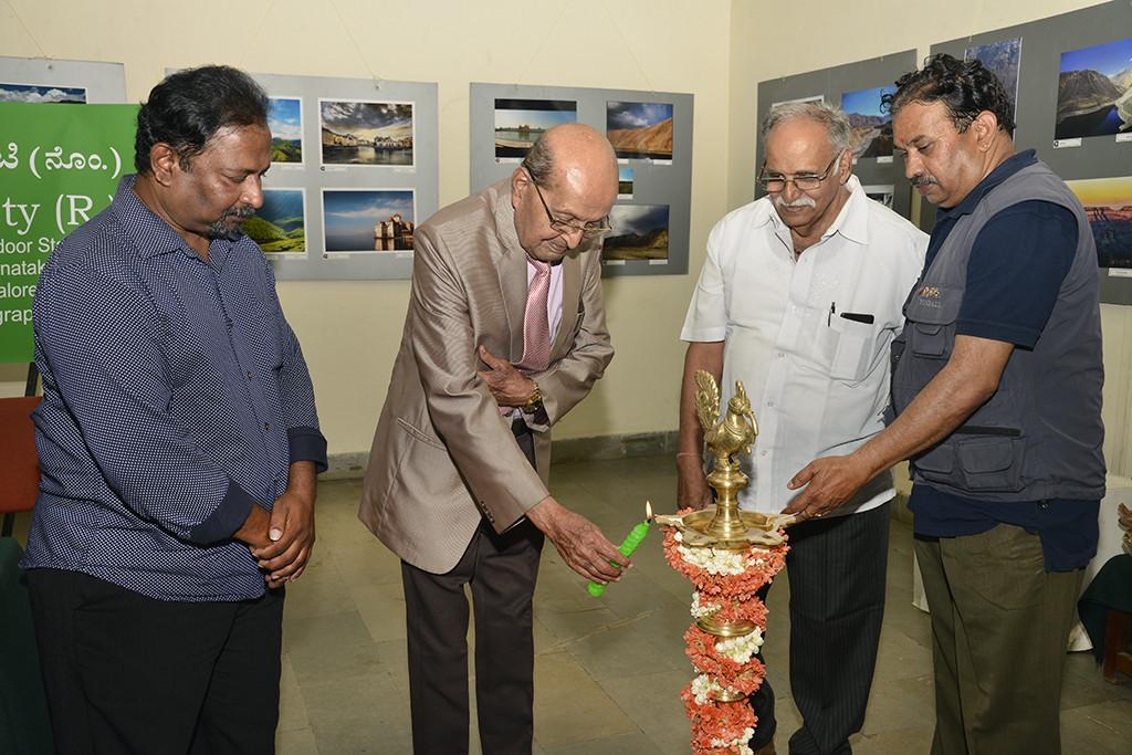 Lamp Lighting by Satish, S K Bhagavan, Basavaraj and Surya Prakash
