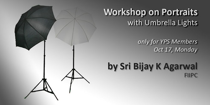 Workshop on Portraits with Umbrella Lighting for YPS Members