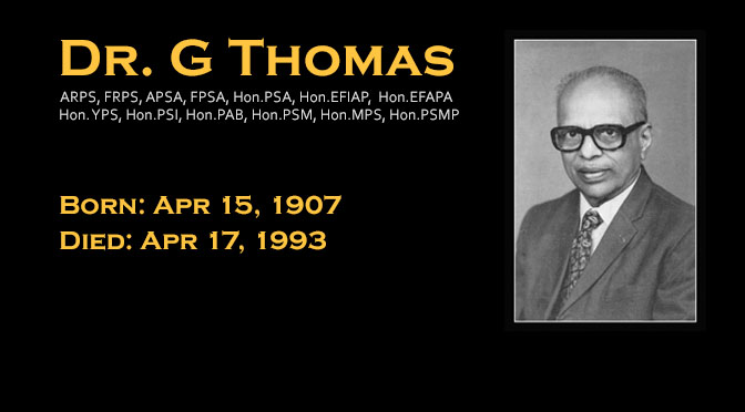 Tribute to Dr. G Thomas