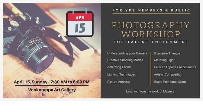 Photography Workshop for Talent Enrichment