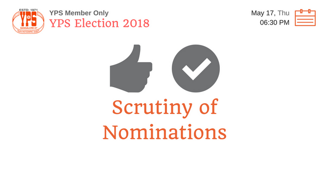 YPS Election 2018 – Scrutiny of Nominations