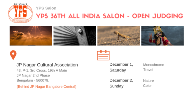 YPS 36th All India Salon 2018 – Open Judging