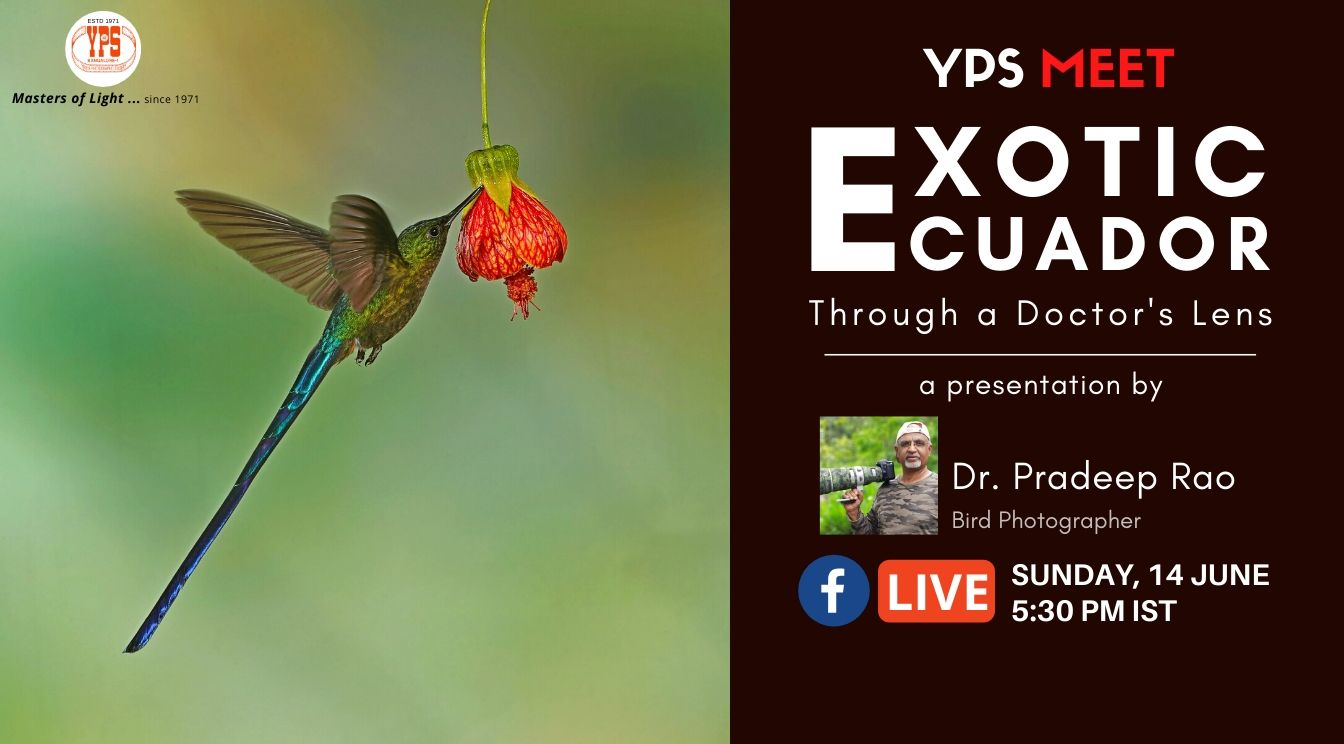 YPS Meet Live - Exotic Ecuador - A presentation by Dr. Pradeep Rao on YPS Facebook Live on 14 June 2020, 5.30pm IST