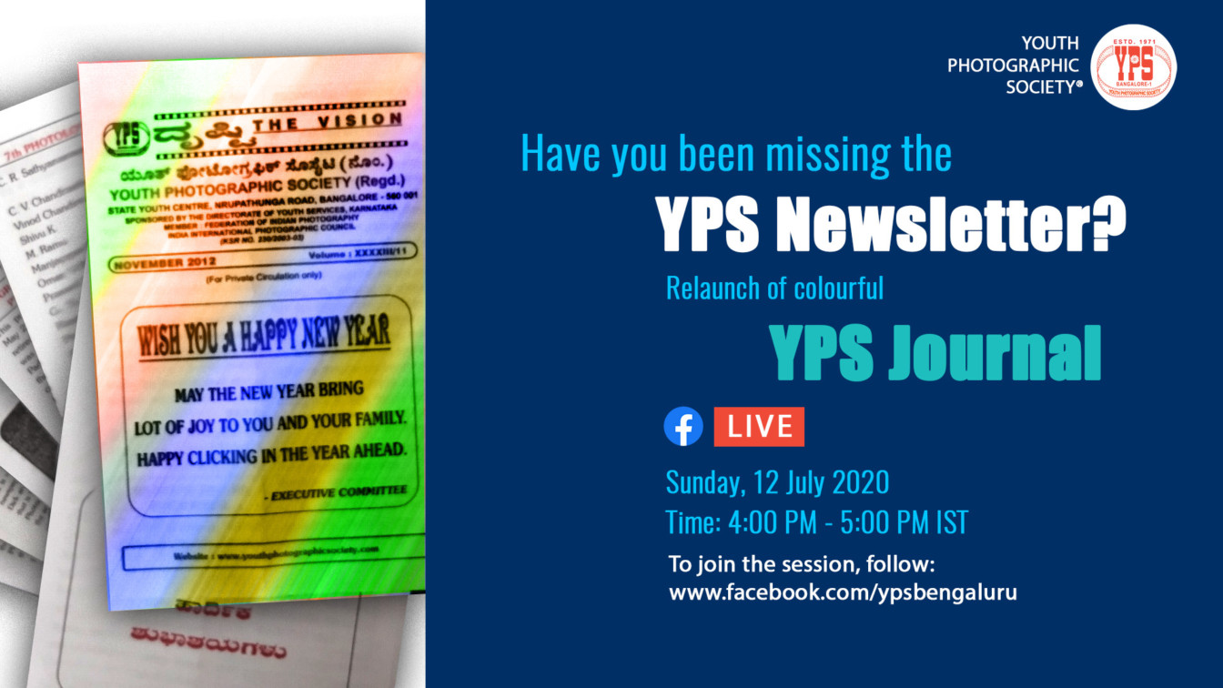 Dṛṣṭi Revived - Relaunch of YPS Newsletter, on YPS Facebook Live (https://facebook.com/ypsbengaluru/live) on 12 Jul, 2020 at 4:00pm IST
