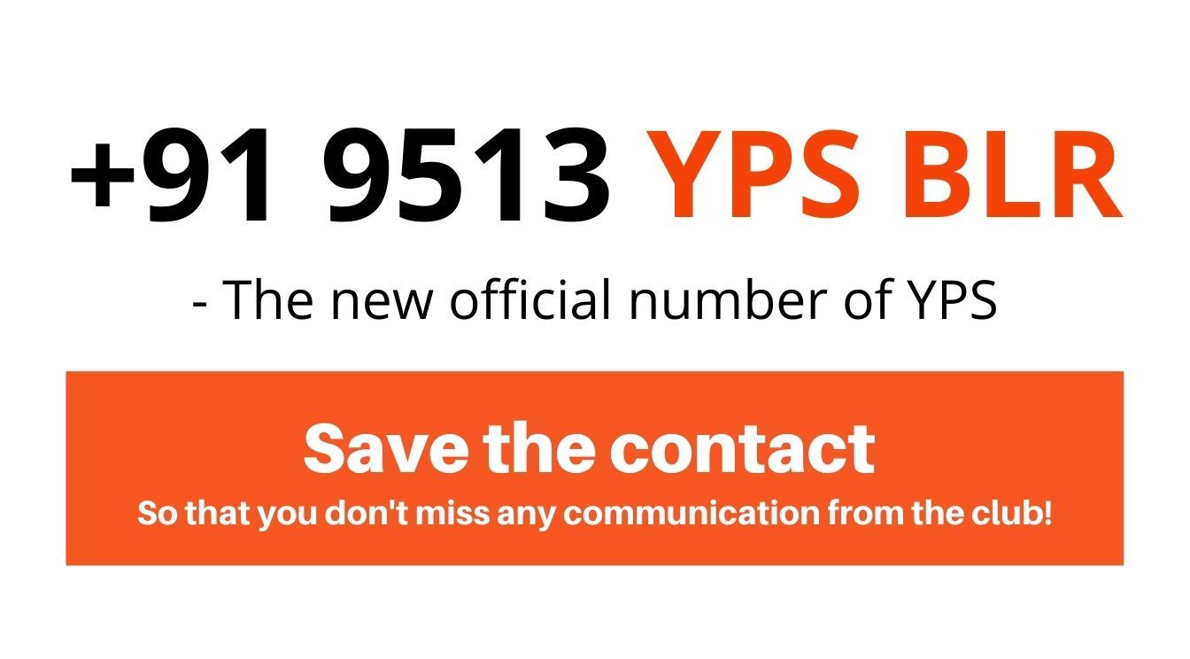 YPS' Official Number +91 9513-YPS-BLR