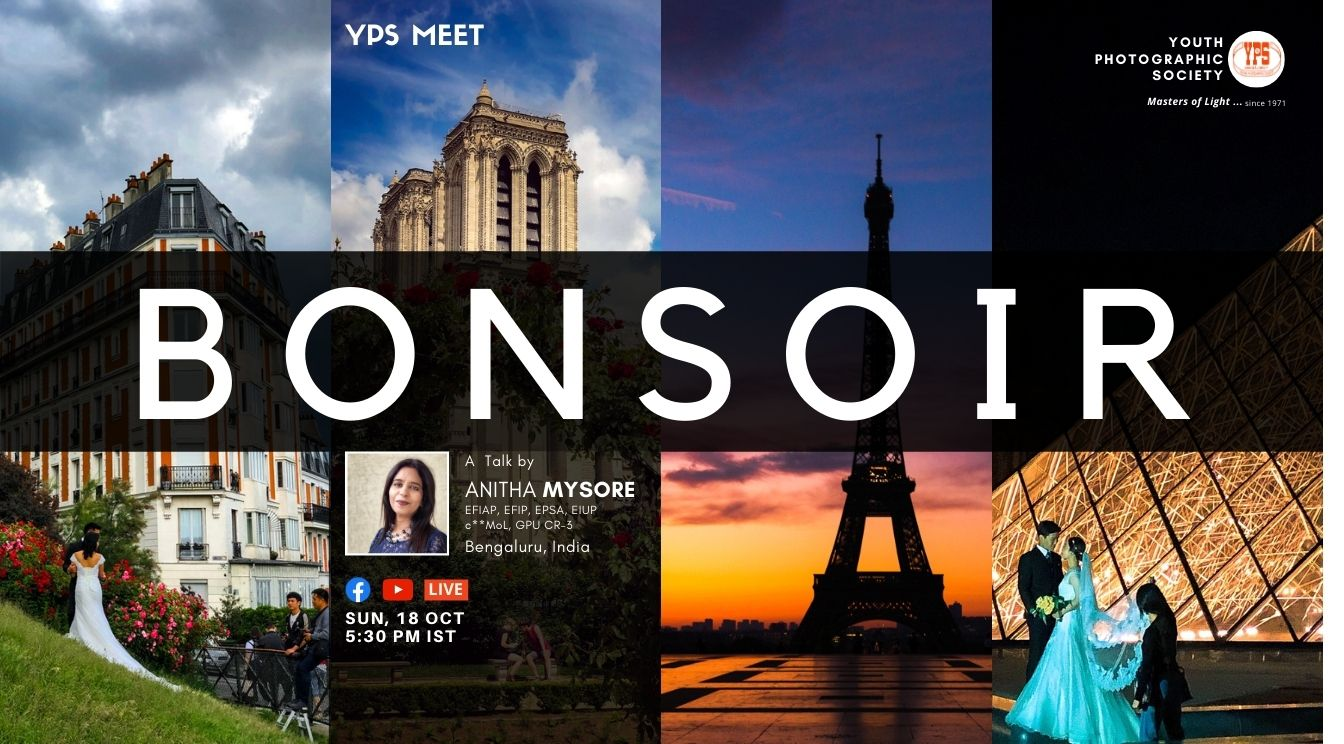 YPS Meet - Bonsoir - A talk by Anitha Mysore on YPS Facebook and Youtube Channel on 18 Oct - Web - 1