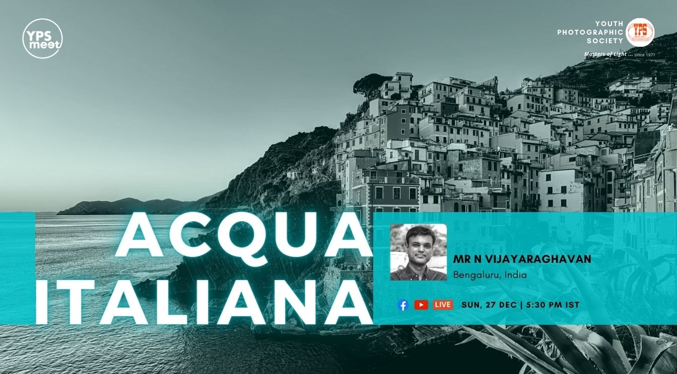 YPS Meet Acqua Italiana By Vijayaraghavan on 27 Dec at 5:30PM IST