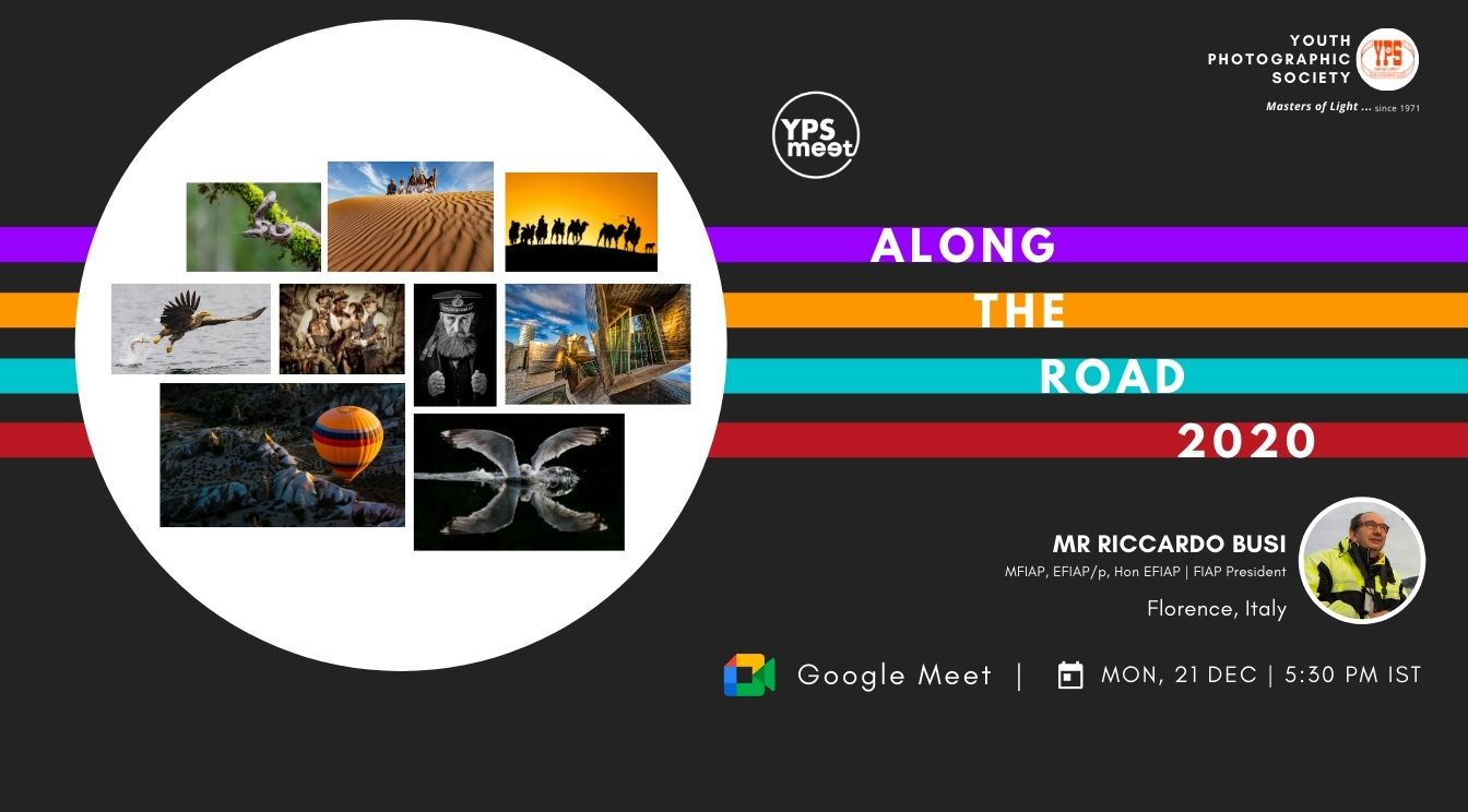 YPS Meet Along the Road 2020 A Presentation by Riccardo Busi on Mon 21 Dec at 5-30 PM IST on Google Meet - web