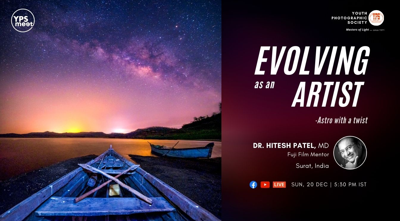 YPS Meet - Evolving as an Artist by Dr Hitesh Patel on 20 Dec at 5:30 PM IST