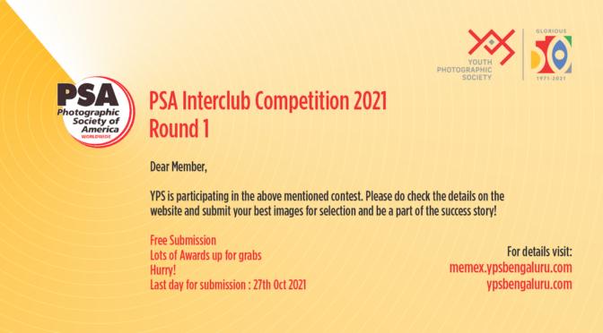 PSA Interclub Competition 2021 Round 1