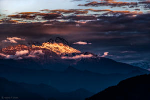 First Rays of Sunlight on Mount Kanchenjunga HardikPShah