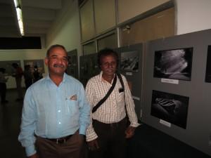 Shantha Kumar with HK Rajashekar