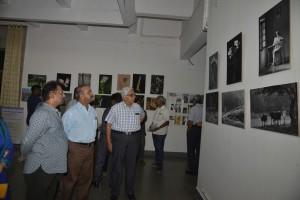 Shantakumar, MN Jayakumar, Satish looking at Monochrome Pctures