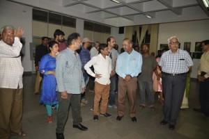 Vijay Kumar Pattakkall having conversation with Shantha Kumar