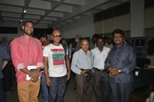B Srinivas with Shashidharaswamy Hiremath and Padmanabha KG