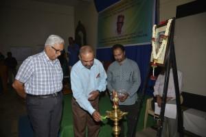 Lamp Lighting by Shanta Kumar as MN Jayakumar and Satish look on