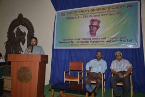 Satish delivering Welcome Address