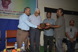 Nataraj Perumal receiving on behalf of the family
