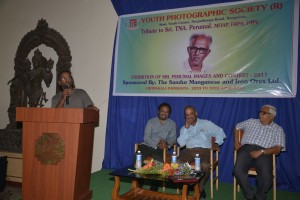 Nataraj speaking about his father