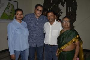Mr. & Mrs. Diinesh Kumble with TA Jayakumar and Mrs. Perumal