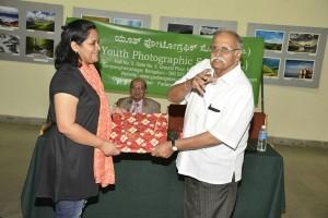 Mamatha receiving Memento