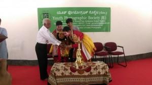 Felicitation of Yakshagana Artists by Hebbar